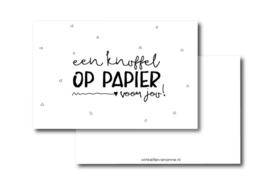 Mini kaartje || Een knuffel op papier voor jou!