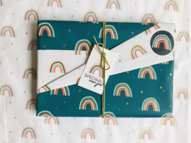 Inpakpapier - Rainbow dubbelzijdig 3M