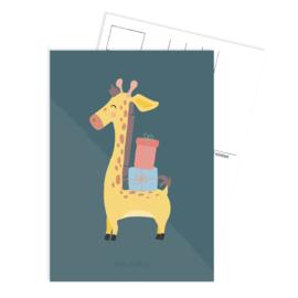 Ansichtkaart | Feest Giraffe