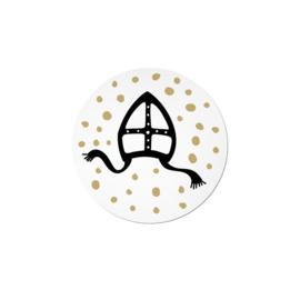 Stickers | Sint mijter goudfolie  - 10 stuks