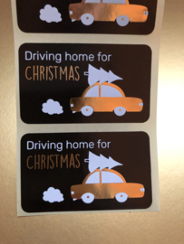 Wensetiket 'Driving home for Christmas'