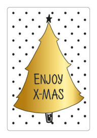 Sticker | Enjoy X-mas - 10 stuks