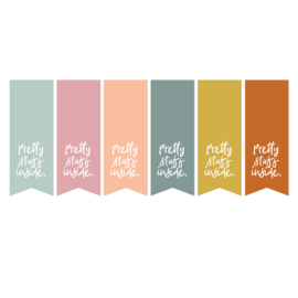 Sticker | Pretty stuff inside | 12 stuks