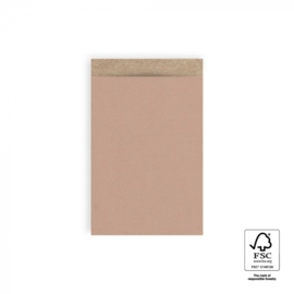 Cadeauzakjes   Craft warm pink 12x19 CM - 5 stuks