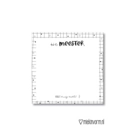 Post-it notes || Hé meester, vergeet mij niet!:)