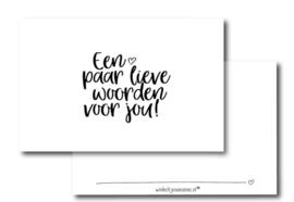 Mini kaartje || Een paar lieve woorden voor jou