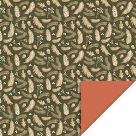 Inpakpapier | Herfst bloemen 30CM x 3M