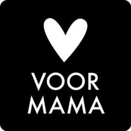 Sticker   Voor mama   5 stuks