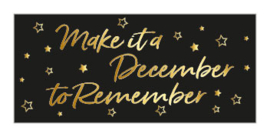 Sticker | December to remember | 10 stuks