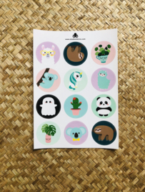 Stickervel A5 12 stickers