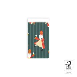 Cadeauzakjes   Sinterklaas Acrobaat 7x13 CM - 5 stuks