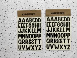 Decoratiestickers letters groot - 2 vellen