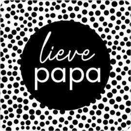 Sticker   Lieve papa   5 stuks