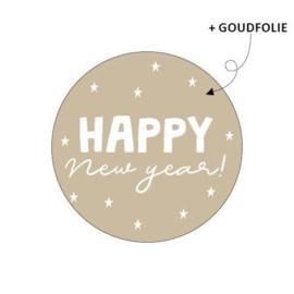 Sticker | Happy new year | 10 stuks