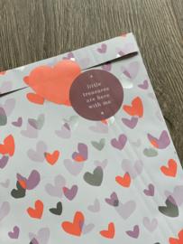Pink hearts - 10 stuks