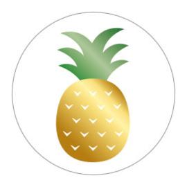 Sticker | Ananas | 10 stuks