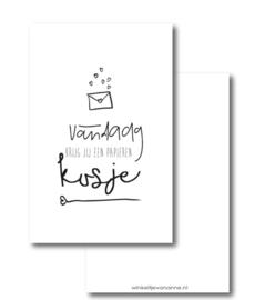 Mini kaartje || Vandaag krijg jij een papieren kusje