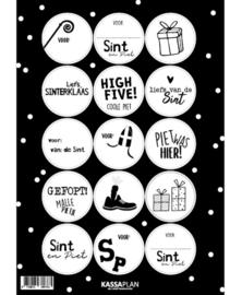 Stickervel A5   Sinterklaas   15 stickers