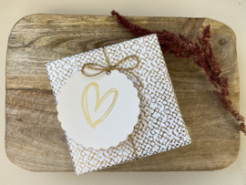 Cadeaulabel || Hearts beige
