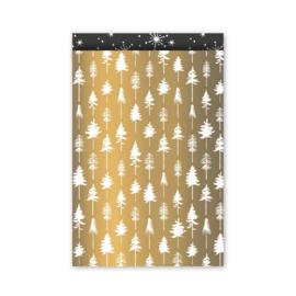 Cadeauzakje | Lovely trees goud/wit/zwart 17x25CM 5 stuks