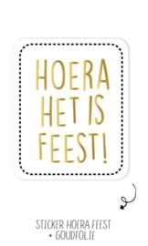 Sticker | Hoera het is feest! | 10 stuks