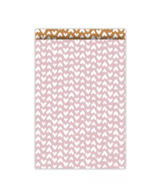 Cadeauzakjes   Ethnic Hearst roze 17x25 CM - 5 stuks