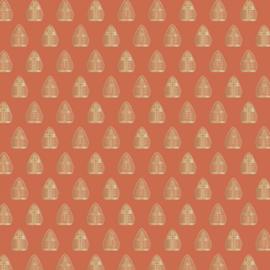 Inpakpapier | Sint mijter - goudfolie - 3M