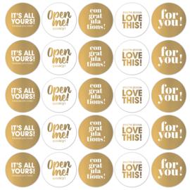 Sticker | Text  mixt | 10 stuks