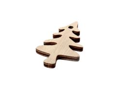 Cadeaulabel | Houten kerstboom