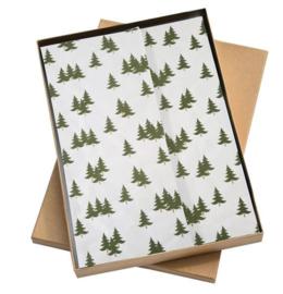 Vloeipapier | Kerstboompjes - 5 stuks
