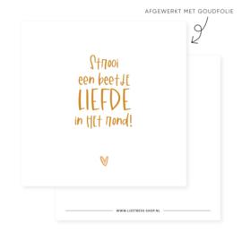 Mini kaartje | Strooi een beetje liefde in het rond!