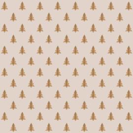 Cadeauzakje | X-mas Tree gold foil 17x25 CM - 5 stuks