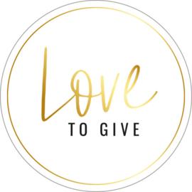 Sticker   Love to give   10 stuks