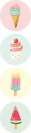 Sticker | Ice cream | 8 stuks