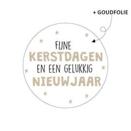 Sticker | Fijne kerst en een gelukkig nieuw jaar | 10 stuks