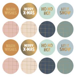 Sticker | Kerstmix - 8 stuks