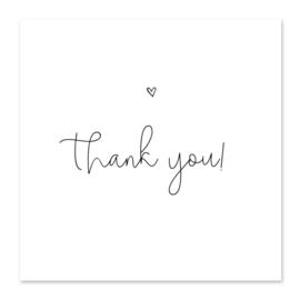 Mini kaartje | Thank you!