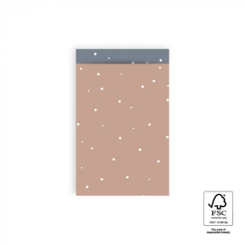 Cadeauzakjes   Little dot warm pink 12x19 CM - 5 stuks