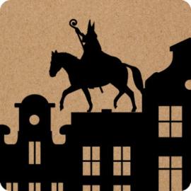 Stickers | Sinterklaas op het dak  - 10 stuks