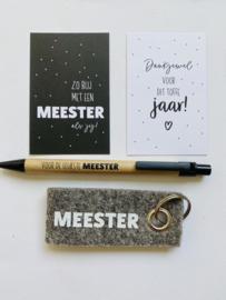 Zo blij met een meester als jij! || Mini-kaart