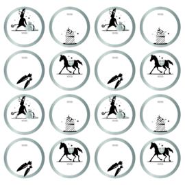 Sticker | Van Sint - zilver | 10 stuks