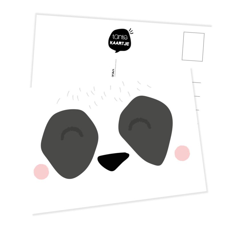 Ansichtkaart   Snoetje panda