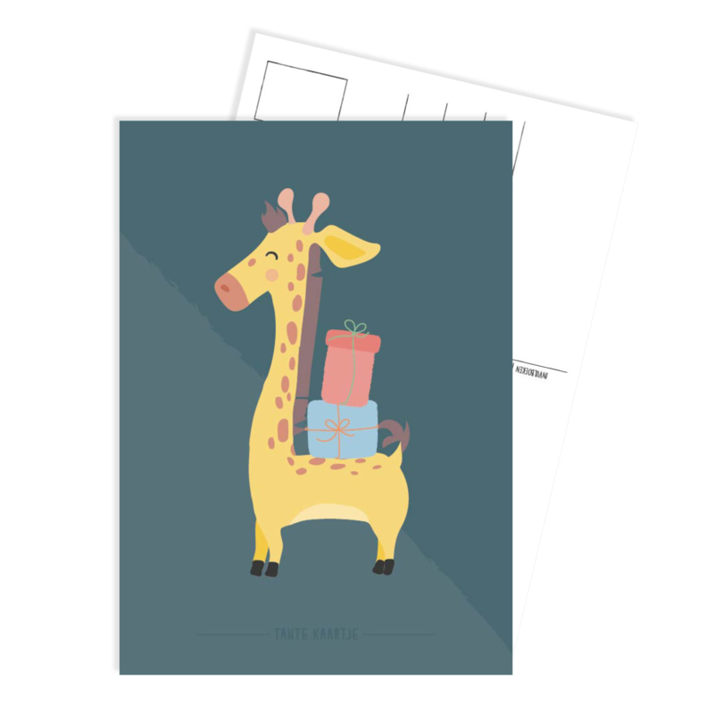Ansichtkaart   Feest Giraffe