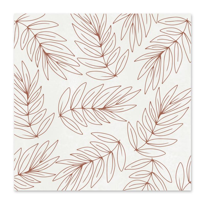 Mini kaartje | Botanical bruin