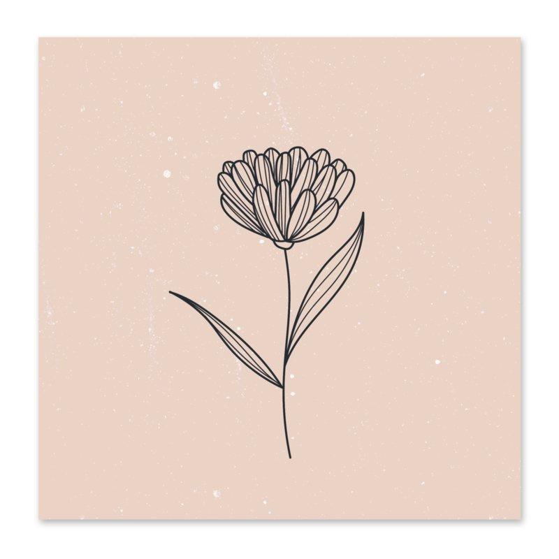 Mini kaartje | Bloem nude