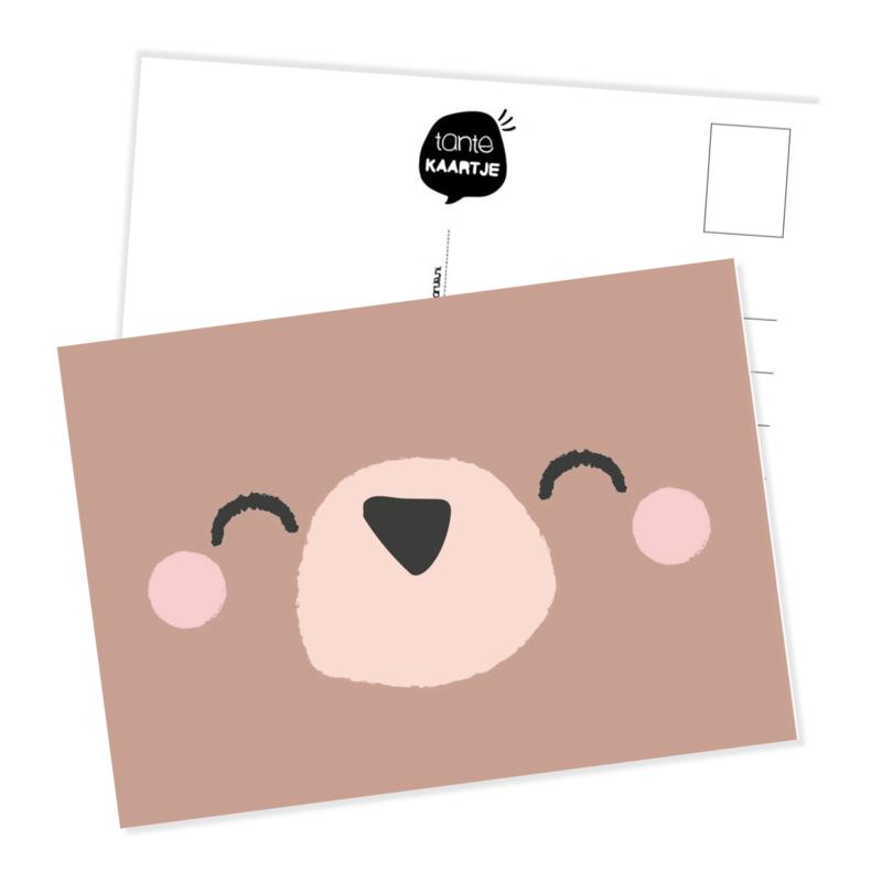Ansichtkaart | Snoetje beer