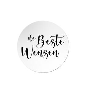 Sticker | De beste wensen - 10 stuks