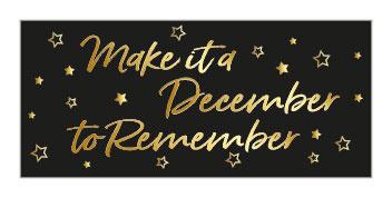 Sticker | December to remember | 10 stuks