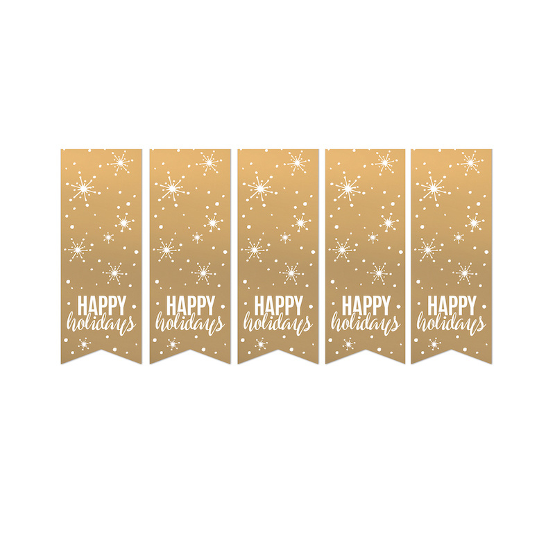 Sticker   Happy holidays - 10 stuks