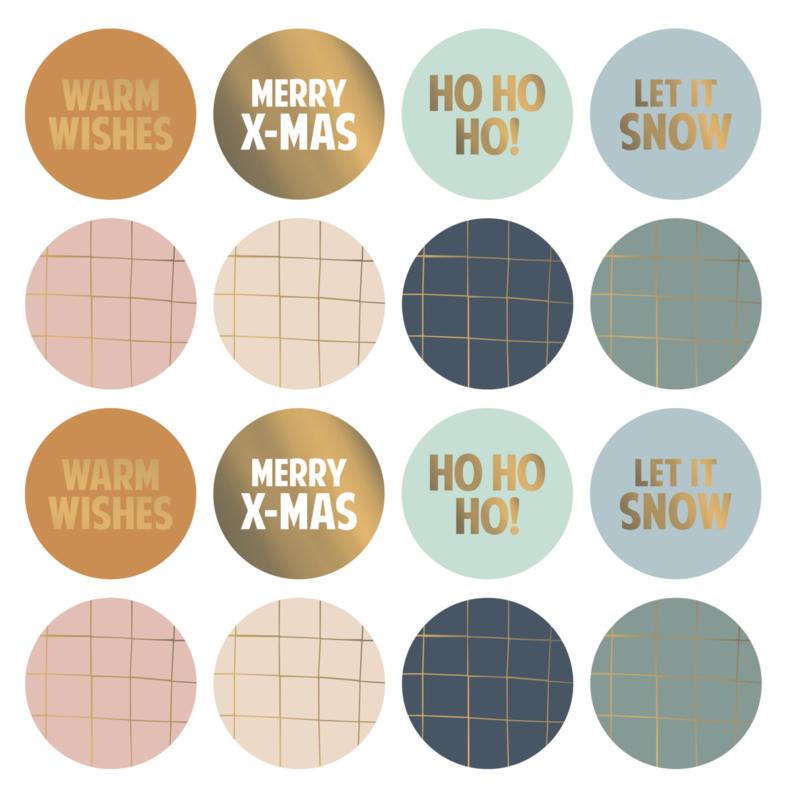 Sticker   Kerstmix - 8 stuks